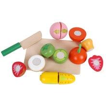 Деревянные фрукты овощи резка Кухонный Набор Развивающие детские