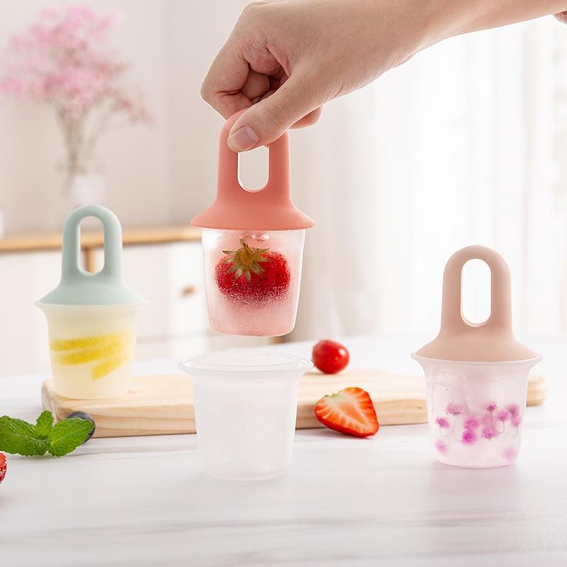 3Pcs Mini Ice Pop Molds Ice Cream Ball Lolly Maker Diy Popsicle Molds Ice Box