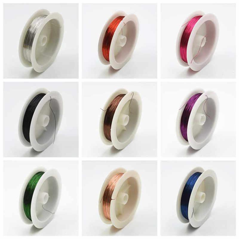 DIY 0.3mm/10m 1 רול זול רך שימושי חסון סגסוגת נחושת חוט תכשיטים ביצוע כבל מחרוזת ואגלי חוט