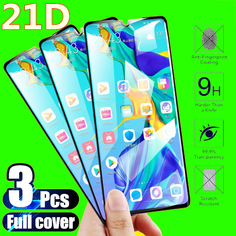 3Pcs Full Cover Tempered Glass For Huawei P30 P20 Lite P20 Pro P Smart 2019 Z Screen Protector For Huawei Mate 20 Lite Glass