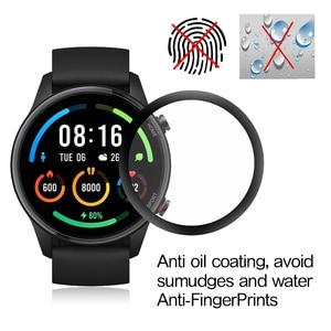 Image 3 - 3D מלא מסך מגן עבור Xiaomi Mi שעון צבע ספורט מהדורת XMWTCL01 Xiomi שעון רך מגן סרט לא מזג זכוכית