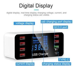 Image 3 - Зарядное устройство GOOJODOQ с 8 USB портами и светодиодным дисплеем, 3,0, 40 Вт