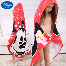 Disney Bath towels Beach +Towels Bathrobe Cotton Children Red Yellow Minnie Mickey mouse beach towel Toddler