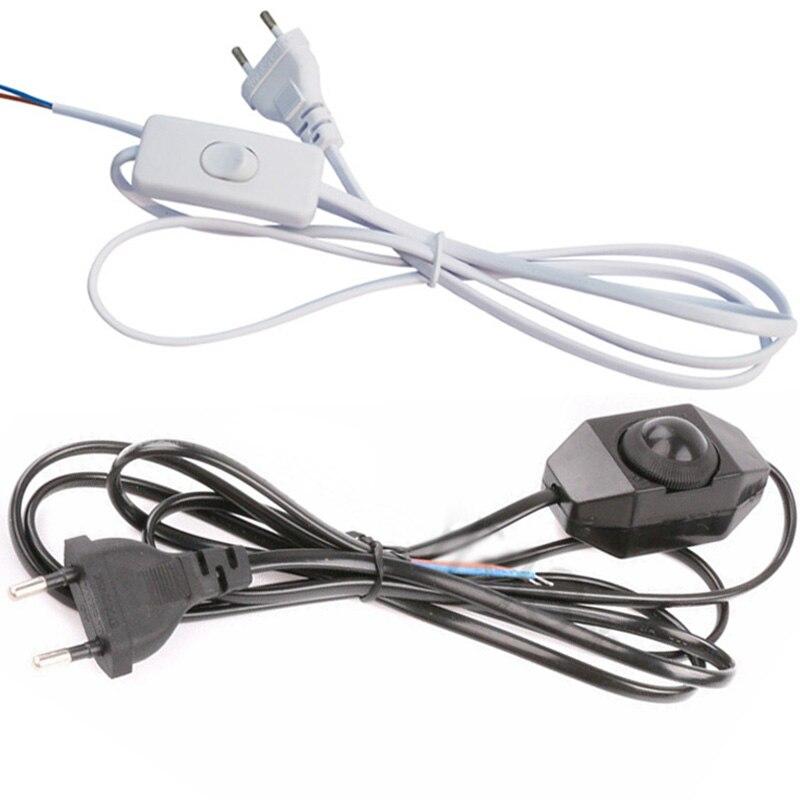 Interruptor de atenuación Cable EU Cable modulador de luz lámpara línea regulador de intensidad para lámpara de mesa Cable de electricidad AC110V 220V 1,8 M