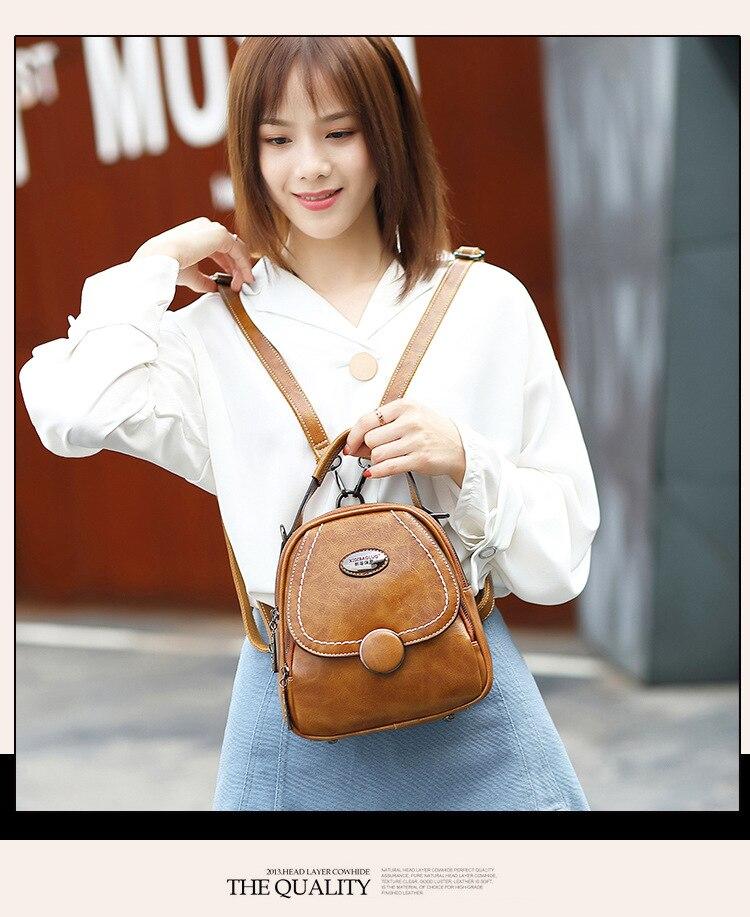 ombro único slung pequeno quadrado multifuncional mochila bolsa para mulher