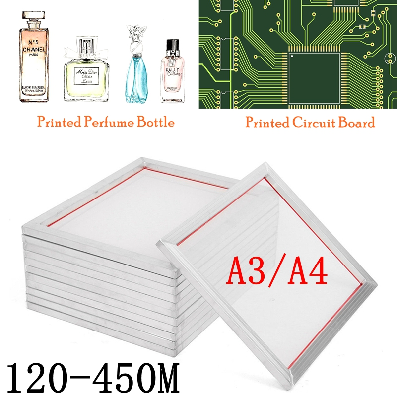 Silk Screen Printing Aluminum Frame Stretched 120M/300M/350M/380M Screen Print Polyester Mesh Frame For Printed Circuit Boards