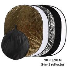 SH 90x120 CENTIMETRI 5 in 1 Multi Disco Diffuer Luce Riflettore Ovale Portatile Pieghevole Con sacchetto Per La Fotografia Studio di Ripresa
