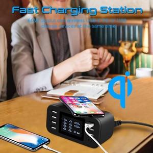 Image 5 - STOD Qi Беспроводное зарядное устройство 10 Вт usb type C PD 18 Вт быстрая зарядная станция 60 Вт светодиодный дисплей для 11 Pro XR XS MAX X 8 Plus Samsung S9 S8 Pixel 3XL 3 NEXUS 6P Nokia Mi Mix USB C адаптер