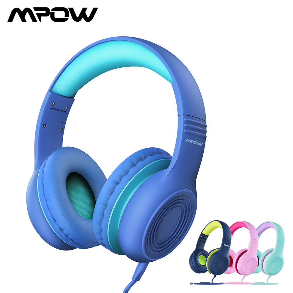 Mpow Wired Headphone Audio-Jack iPod Foldable Children with And  title=