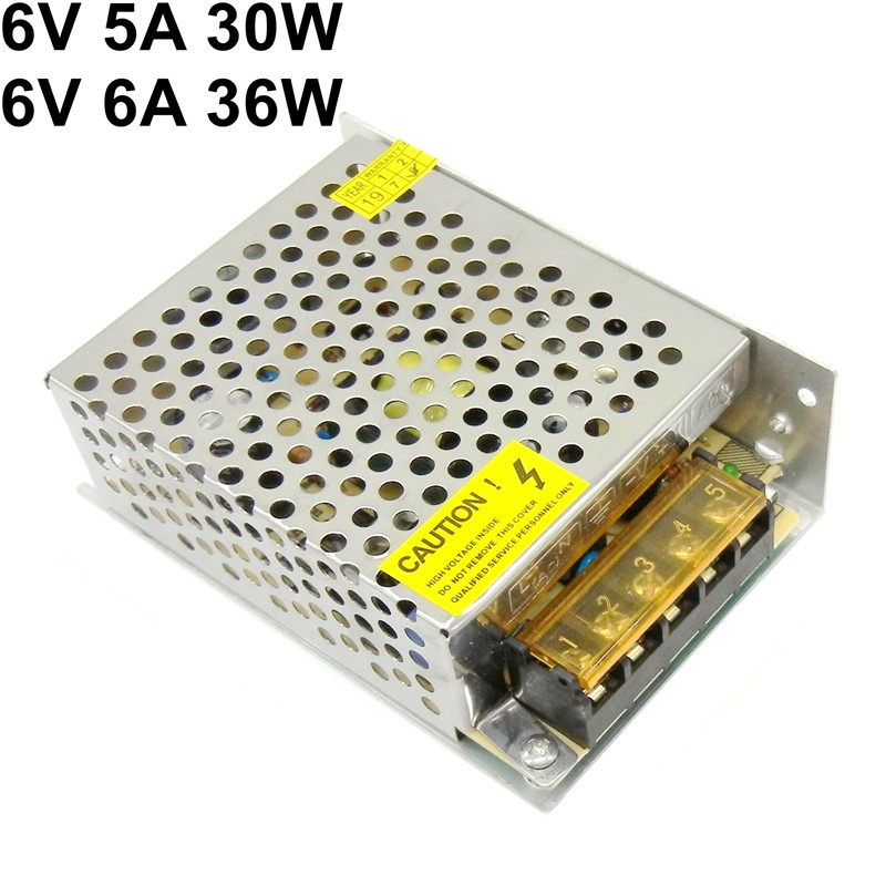 <font><b>6V</b></font> 5A 6A Switching Power Supply 30W 36W voltage transformer universal input ac 110v <font><b>220v</b></font> AC to DC power <font><b>adapter</b></font> image