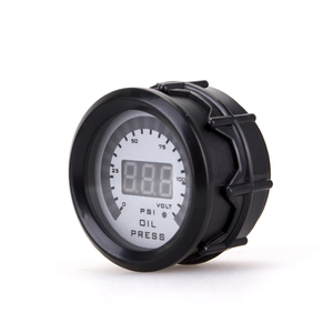 "Image 5 - Car 2"" 52mm Oil pressure gauge With Sensor Smoke Lens Oil Press Gauge + voltmeter auto Car meter 12v digital motorcycle"