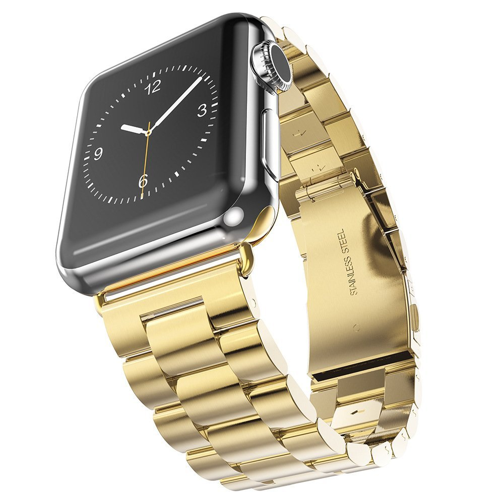 Stainless Steel bands for Apple Watch band smart strap metal watch band black silver 38 40 42 44 Bracelet Clasp series 4 3 2 1 in Smart Accessories from Consumer Electronics