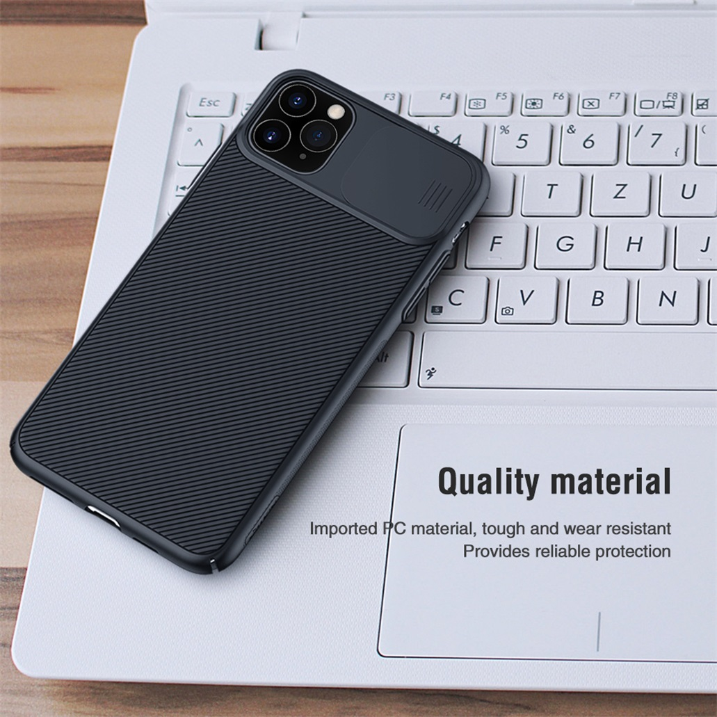 Hac1ba19c0af5449d85e29bb1979339e3J For iPhone 11 11 Pro Max Case NILLKIN CamShield Case Slide Camera Cover Protect Privacy Classic Back Cover For iPhone11 Pro