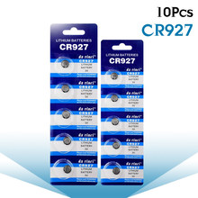 Nova promoção 10 unidades/pacote 3v cr927 células de moedas de lítio pilas para calculadoras led luz e outros aparelhos eletrônicos botão