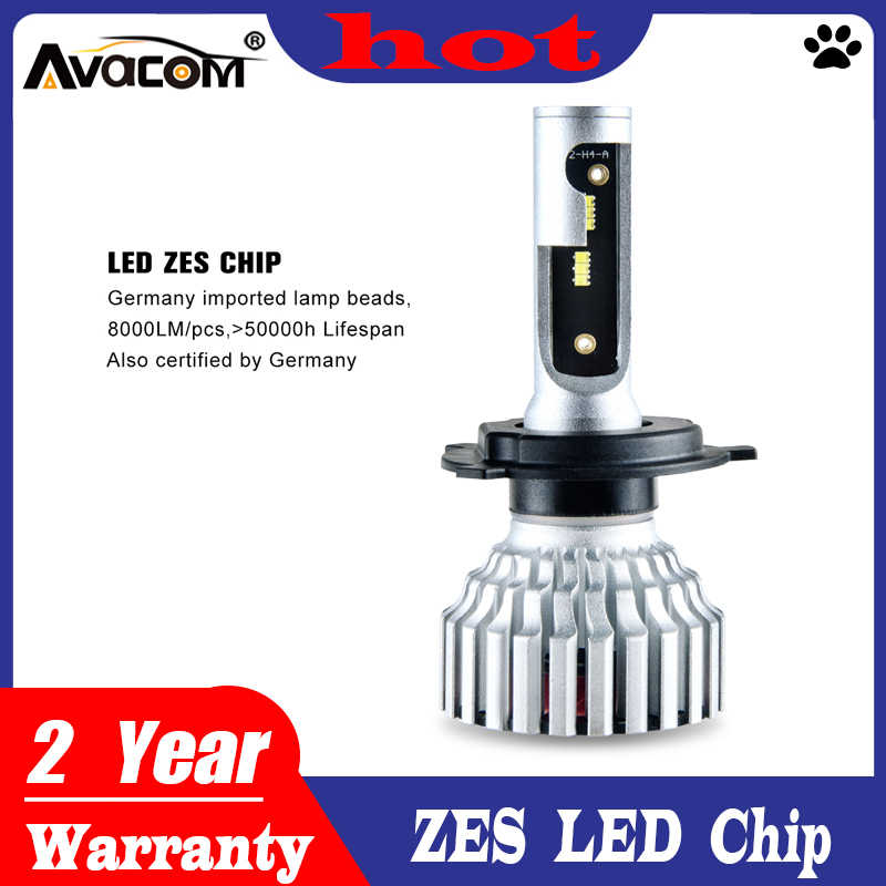 Avacom H7 H4 LED Mini Car Headlight Bulb 16000Lm ZES H11/H8/H9 9005/HB3 9006/HB4 9012/Hir2 12V 24V LED Voiture Auto Lamp