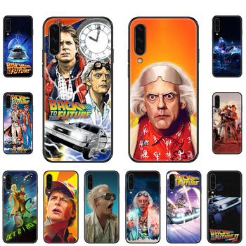 TV Back To The Future Phone case For Samsung Galaxy A 3 5 8 9 10 20 30 40 50 70 E S Plus 2016 2017 2018 2019 black silicone image