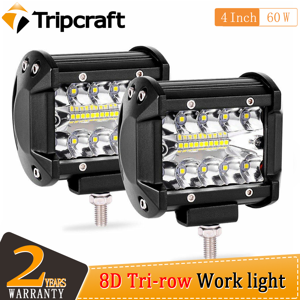 Tripcraft 4inch 60W Led Light Bar For4x4 Offroad Cars Combo Beams Off road SUV ATV Tractor Boat Trucks Excavator 12V 24V Work image
