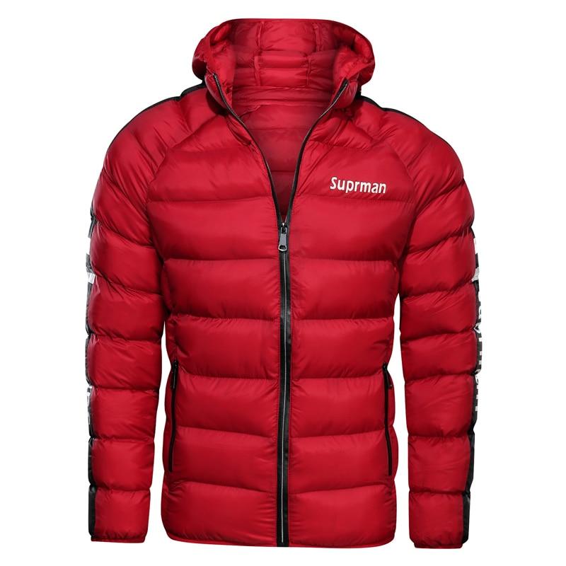 Image 5 - 2019 New Mens Winter Jacket Coat Hooded Fashion Parka Men  Thicken High Quality Coat Male Top Slim Fit Brand Man Warm  OvercoatsJackets