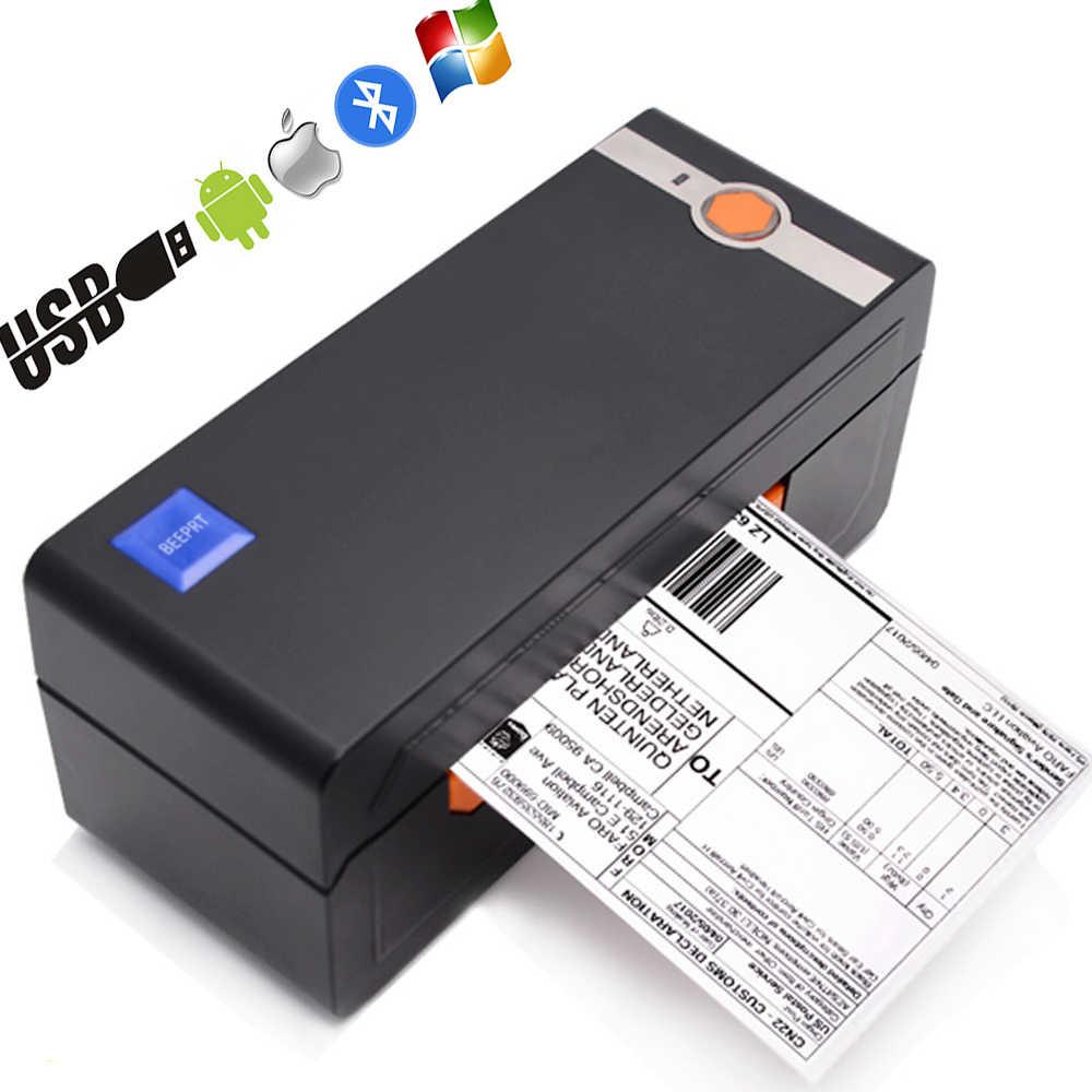 Thermische Barcode Label Printer Bluetooth Usb 4*6 Verzending Printer Compatibel Ebay Amazon Shopify Thermische Sticker Machine