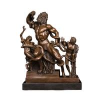 DS 396 Laocoon and His Sons Bronze Statue World Famous Sculpture Replica Ancient Greek Classical Art Vintage Figurine Home Decor