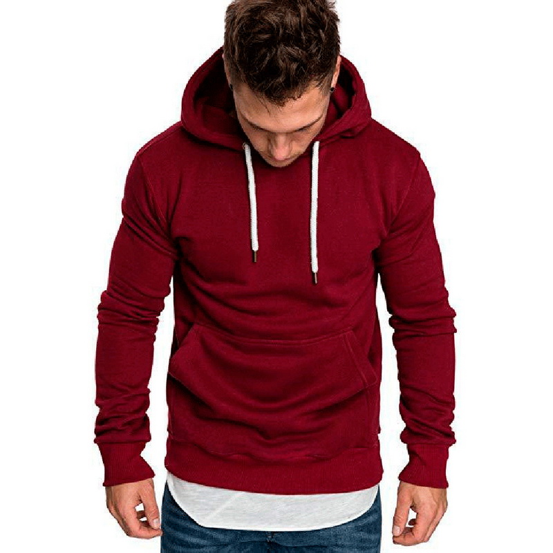MoneRffi 2019 Solid With Pocket Hoodies Men Sweatshirts Rapper Hip Hop Hooded Pullover Sweatershirt Male Clothes Sudadera Hombre