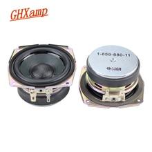 GHXAMP 2.75 인치 8OHM 15W 우퍼 미드 레인지베이스 홈 시어터 라우드 스피커 DIY Cone Rubber Edge 20 코어 보이스 코일