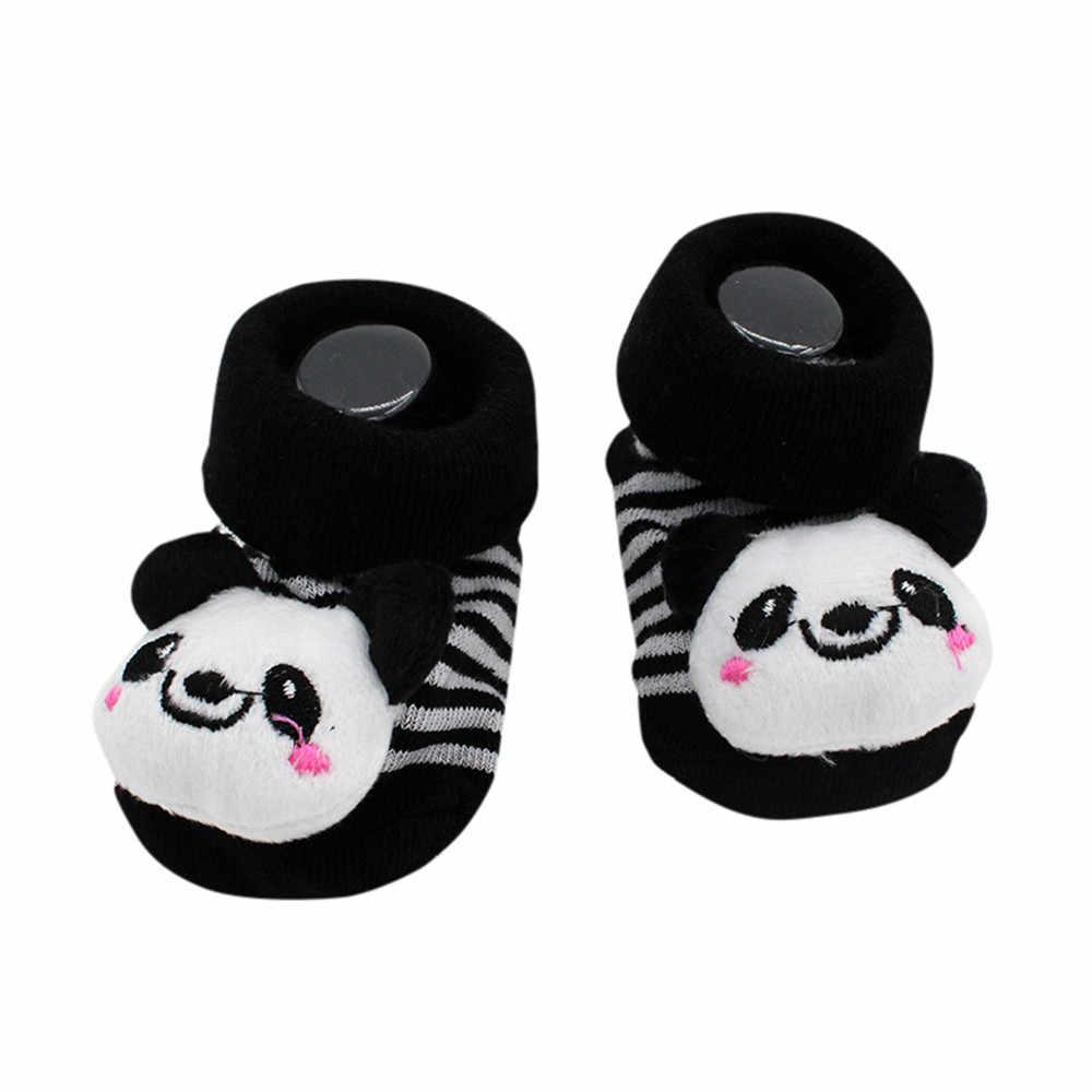 ถุงเท้าเด็กทารกการ์ตูนทารกแรกเกิดเด็กทารก Anti-Slip ถุงเท้ารองเท้าแตะรองเท้าบูทอบอุ่นเหมาะสำหรับ 0- 12 เดือน