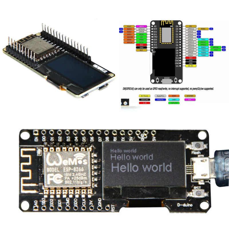 Carte de développement partie NODEMCU Wifi ESP8266 ESP-12F CP2102 Module Micro USB OLED