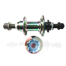Last stock Full color rain bow finish 5 bearings 9T 36 hole bmx rear hub