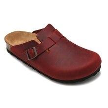 2020 Original NEW Birkenstock Unisex Professional Boston Super Grip Leather Slip Resistant Work Shoe Solid color Size 36-45