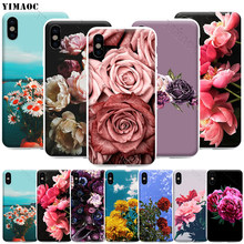 YIMAOC Elegant Pink Purple Peony Phone Case for iPhone 11 Pro XS X XR Max 8 7 6 6S Plus SE 5S(China)