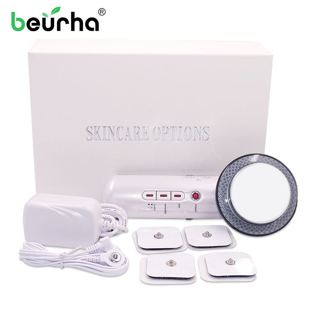 3 in 1 Facial Lifting EMS Infrared Ultrasonic Body Massager Device Ultrasound Slimming Fat Burner Cavitation Face Beauty Machine
