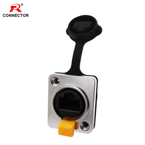 RJ45 Waterproof Connector NE8FDX CAT6A ethercon, Right Angle&Straight, Female Panel Connector, Sockets RJ45 Ethernet Connector(China)