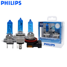 Philips Head-Light Fog-Lamps Bulbs-Pair 5000k-Car Halogen Xenon Diamond-Vision White