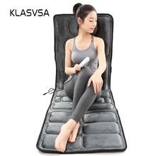 KLASVSA Vibrador Elétrico Esteira de Aquecimento Colchão de Massagem No Pescoço de Volta Da Cintura Do Corpo Massager Relaxar Em Casa Cama Cuidados de Saúde Alívio Da Dor