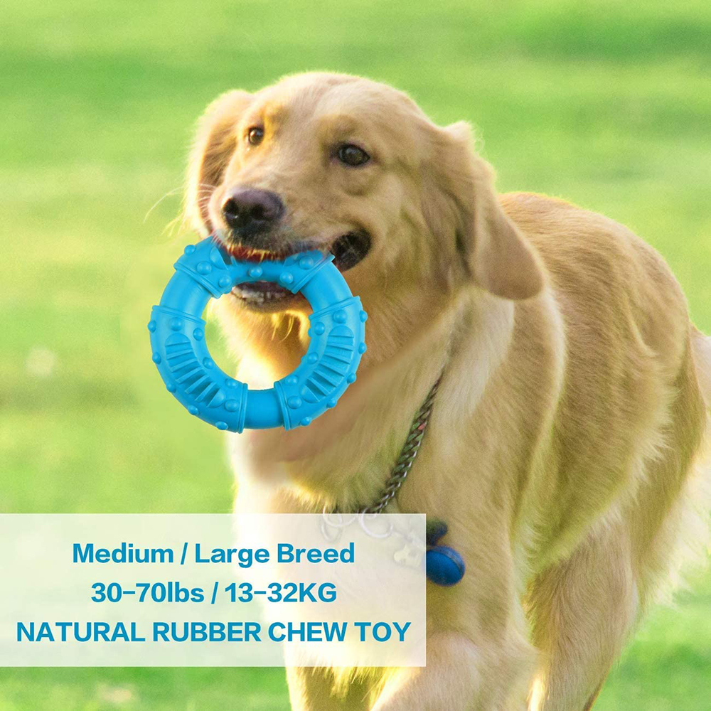 Durable Dog Chew Toy for Aggressive Chewers Tough Natural Rubber Puppy Teething Toy Indestructible Dog Toy for Reduce Anxiety img3