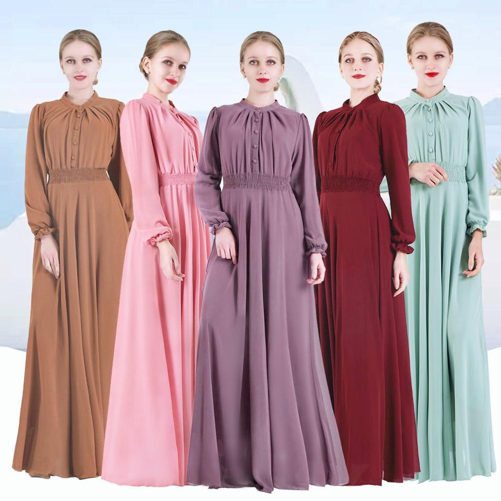 Eid Mubarak Kaftan Dubai Abaya Turkey Hijab Dress Islam Caftan Ramadan Abayas For Women Turkish Dresses Gamis Muslim Wanita Robe