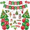 Рождественские украшения для дома веселые рождественские воздушные Шары Баннер фото стенд реквизит 2020 счастливый новый год Декорации Navidad ...