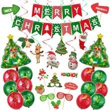 Рождественские украшения для дома с Рождеством воздушные Шары Баннер фото стенд реквизит 2021 С Новым Годом Украшения Navidad 2020