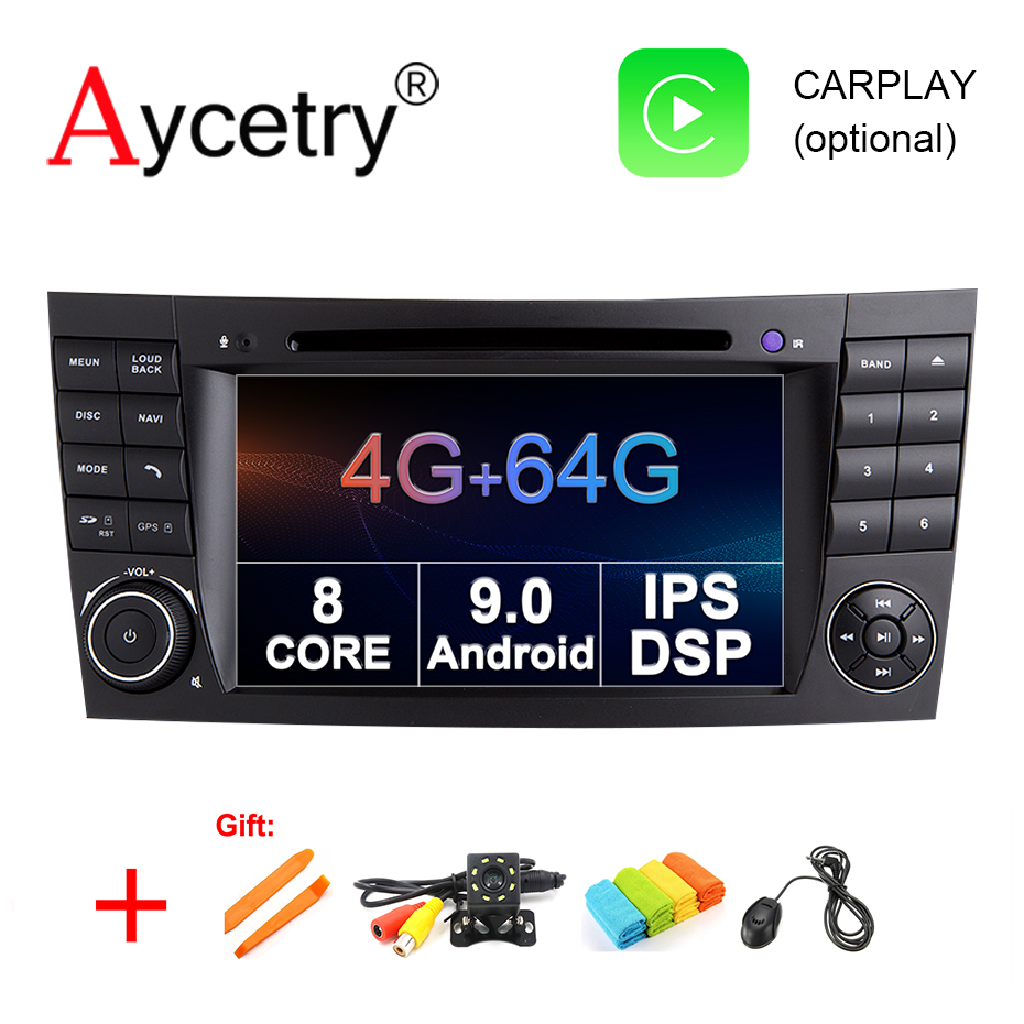 4G 64G DSP IPS Car DVD GPS 2 din Android 9 0 for benz W211 E200