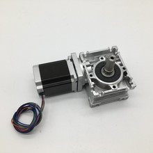 RV030 Worm Gearbox  Speed Reducer 14mm output With Nema23 Stepper Motor 3A 76MM 1.8NM 260Oz-in kit Convert 90  For CNC Router 57mm gearbox geared stepper motor ratio 20 1 nema23 l 56mm 3a cnc router