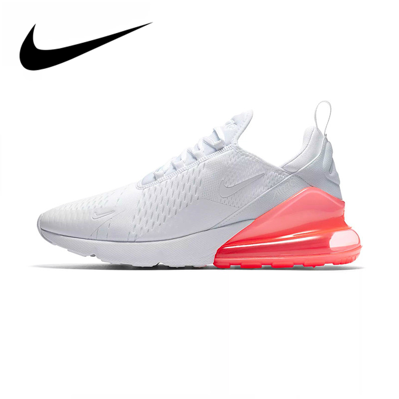 Original Authentic Nike Air Max 270 Men's Running Shoes White Sneakers Color Heel Comfortable Athletic Designer Footwear AH8050