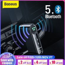 Baseus سيارة Aux بلوتوث 5.0 محول لاسلكي 3.5 مللي متر الصوت لاستقبال السيارات سماعة بلوتوث للسيارة كيت المتحدث سماعة