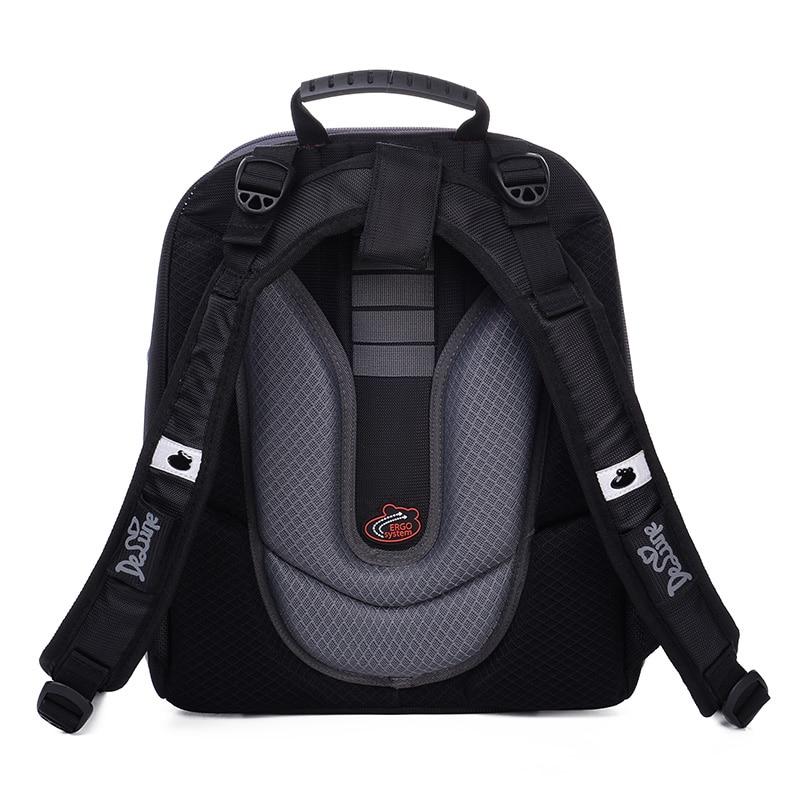 High Quality  Delune 2019 Cartoon Children School Backpack for Boys Orthopedic Backpack Children's School Bag Motorcycle Safe