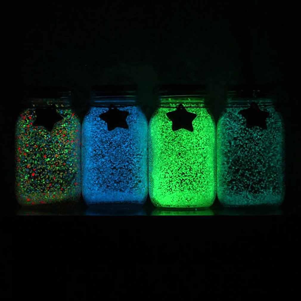 Nuovo Fluorescente Glow in the dark 10g Luminoso Grano Sabbia Partito FAI DA TE Vernice Brillante Star Bottiglia Che Desiderano Particelle Fluorescenti giocattoli