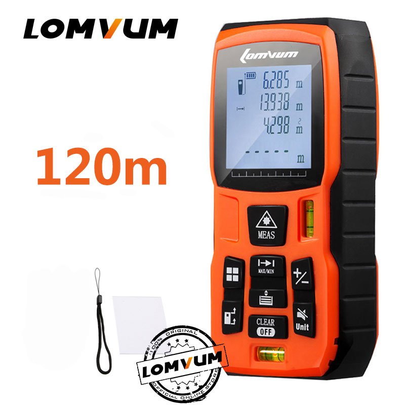 LOMVUM 40m Trena Measure Tape Medidor Laser Ruler Rangefinders Digital Distance Meter Measurer Range Finder Lazer Metreler