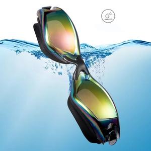 Image 3 - Swimming Goggles Professional Durable Silicone Swimming Goggles Anti fog Anti UV Waterproof adult arena Swimming Glasses colored