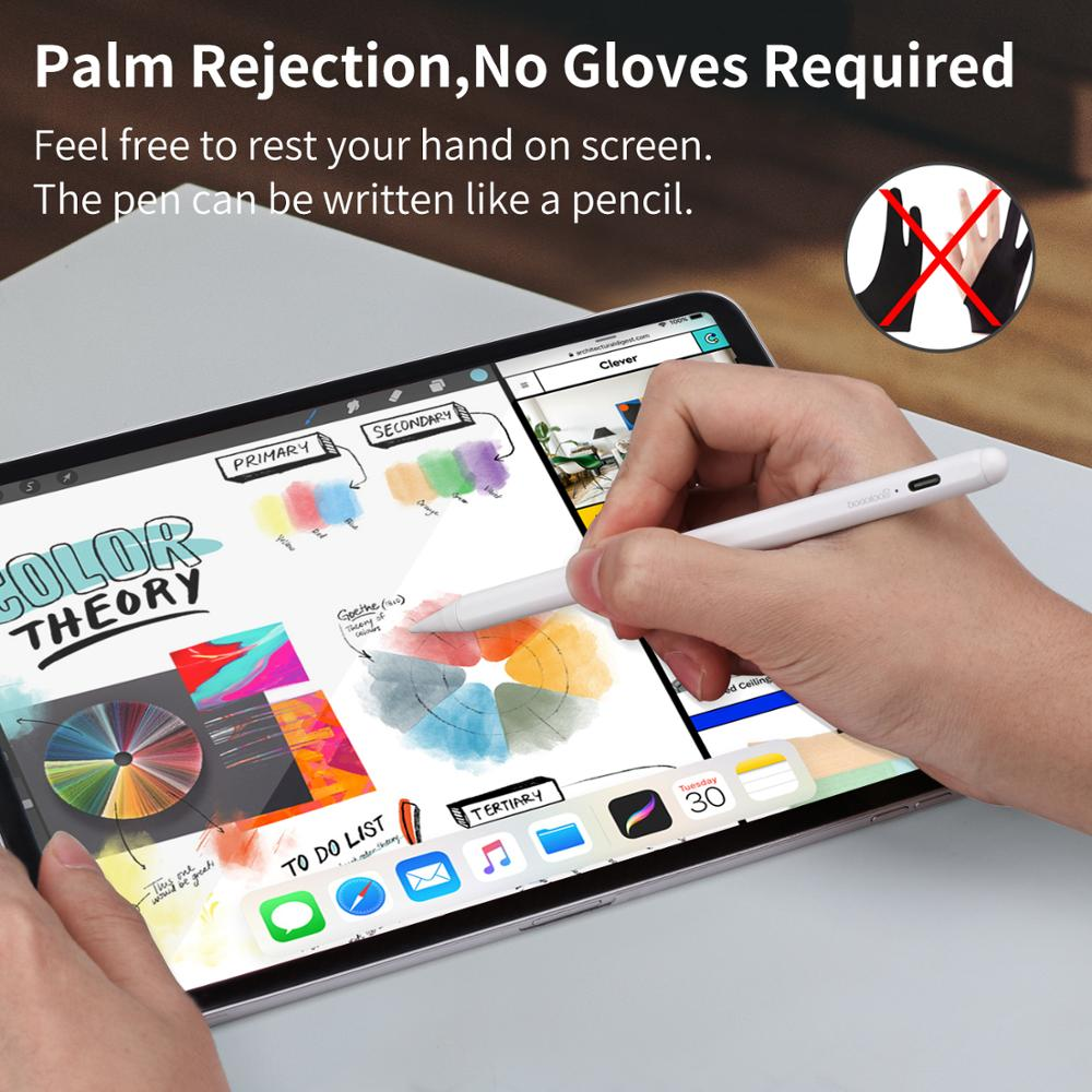 For iPad Pencil with Palm Rejection,Active Stylus Pen for Apple Pencil 2 iPad 2018 2019 6th 7th Gen/ Pro 3rd Gen/Mini 5 for 애플펜슬