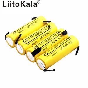 Image 5 - Liitokala bateria li ni Lii 50E 21700 5000 mah, 3.7 v 40a para alta descarga mod/kit 3.7 v 15a potência + diy nicke