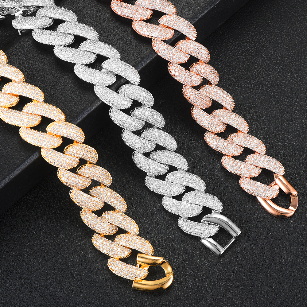 Image 4 - GODKI Luxury Chunky Link Bracelet For Women Wedding Full Cubic Zircon Crystal CZ Dubai Silver Bracelet Party Jewelry 2020Bangles   -